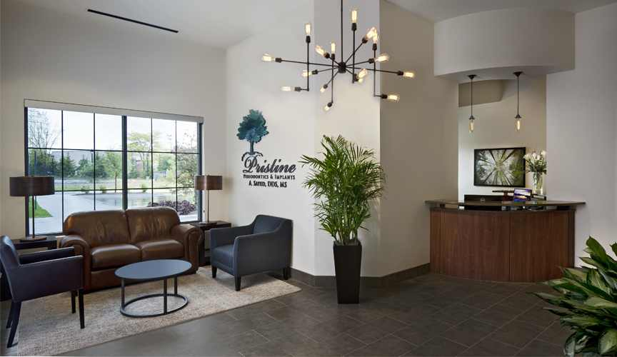 A peaceful, Pristine reception area—all for your comfort.